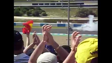 Jorge Lorenzo пали асвалта (burn Da Track) :d
