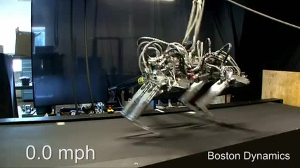 Руче робот бяга с 28.3 км. в час :)