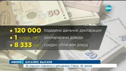32-ма българи са декларирали доходи от над 1 млн. лв.