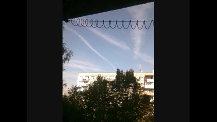 Химически следи в небето над София - 18.09.2010