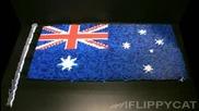 Австралийското знаме направено от домино