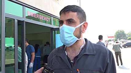 Nagorno-Karabakh: Stepanakert hospitals receive wounded after violence erupts in region