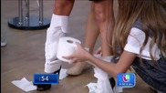 Selena Gomez wrapped in toilet paper at Dispierta America 2015