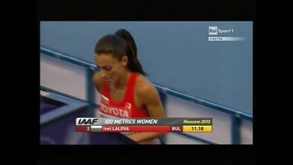 Лалова е на полуфинал на 100 метра в Москва, Мавродиева е 19-а на гюлле