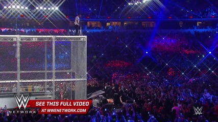 Shane Mcmahon скача от клетката vs. The Undertaker - Hell in a Cell Match׃ Wrestlemania 32 - 2016