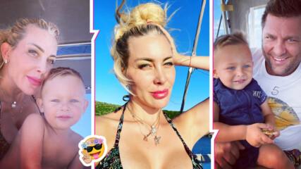 Антония Петрова и синьото лято на яхта! Вижте семейната гръцка почивка на миската