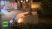 Greece: Athens protesters set van on fire