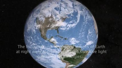 Земята през нощта от космоса