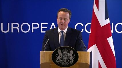 Belgium: Cameron announces Brexit deal