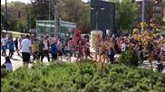 Феновете на Левски преди дербито