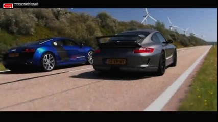 Audi R8 V10 vs Porsche 911 Gt3