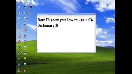 Как Да Използвате SA Dictionary