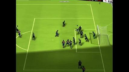 Fifa 10 Demo - Gudjohnsen goal