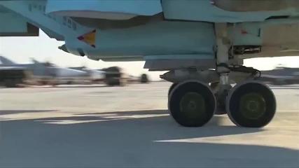 """Руснаците бомбардират Идил с бомби надписани """"за нашите"""" и """"за Париж"""""""