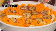 Рецепта за Зарган в бекон с босилек и мирпоа