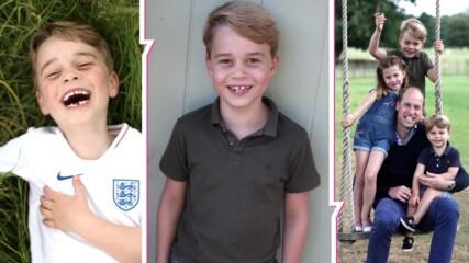 Eдин малък наследник на голям род: принц Джордж на 7 и с очарователна нова снимка