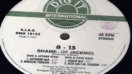 B-13 - Shame-of ( Scemo ) ( Discotec Version ) ( Eurodance 1993 )