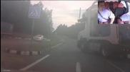 Руснак кара камион след бутилка и половина водка !