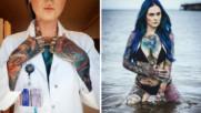 Най-татуираният лекар в света - секси мацка от сънищата на всеки мъж
