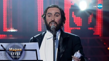 "Мария Илиева като Luciano Pavarotti - ""O Sole Mio"" | Като две капки вода"