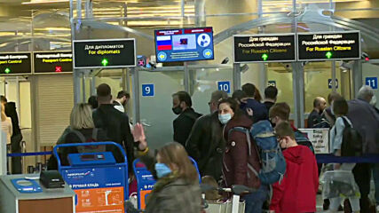 Russia: Expelled Czech diplomats and their families arrive at Sheremetyevo airport in Moscow