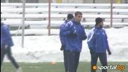 Първата тренировка на Йордан Милиев на Герена!
