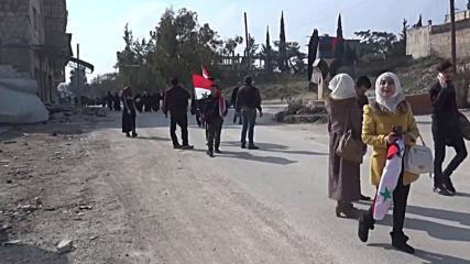 Syria: Displaced residents return to their homes in Maarat al-Numan