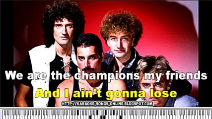 We Are The Champions - Instrumental Karaoke. Original lyrics by Queen and Freddie Mercury.