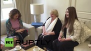Syria: 'World's strongest girl' Maryana Naumova meets Asma al-Assad