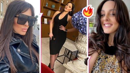 Перфектна в черна прилепнала рокля: Симона Загорова се завърна след раждането