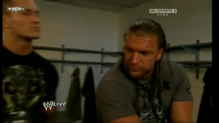 Triple H and Randy Backstage