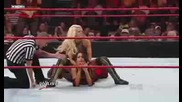 Wwe Raw 6/22/09 Mickie James Bella Twins vs Beth Phoenix Maryse Rosa Mendes