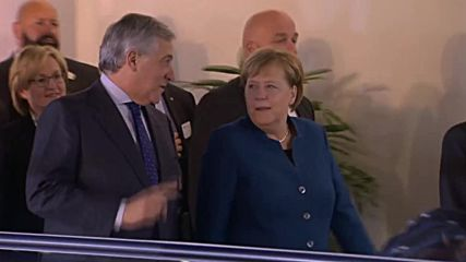 France: Merkel meets with European Parliament Pres. in Strasbourg
