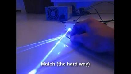 Син лазер - яко :)