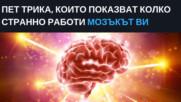 Пет трика, които показват колко странно работи мозъкът ви