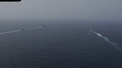 At Sea: US navy conducts exercises in Persian Gulf