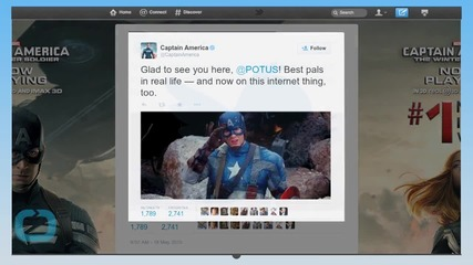 Captain America Welcomes Barack Obama To Twitter