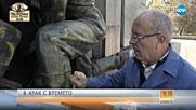 """""""Рисунките"""" по Паметника на Съветската армия: Ленин срещу графитите"""