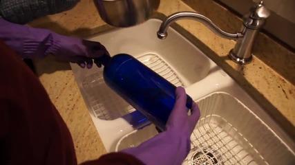 Как да разрежем стъклена бутилка