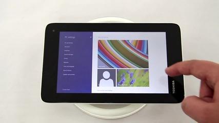 Mini таблет на Toshiba с операционна система Windows 8.1