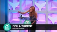Bella Thorne accepts the Best Actress Shorty Award