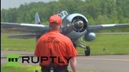 USA: Vintage aircrafts take to the skies ahead of Washington DC's V- Day celebrations