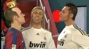 100 Смях Пародия Иниеста срещу Роналдо