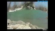 Бомба Експлодира Под Езеро!