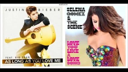 Нeверoятно! Justin Bieber & Selena Gomez - As Long As You Love Me