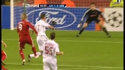 Liverpool 1 - 0 Debrecen * Kuyt goal