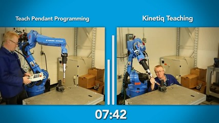 Kinetiq teaching vs Teach Pendant Programming - Robotiq [full Hd]