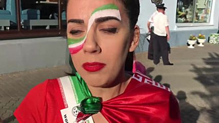 Russia: 'A phenomenal feeling' - women supporters cheer on Iran at WC