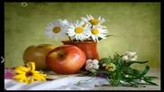 ✿ Натюрморти с маргаритки и плодове, с китарен звън! ... ...✿