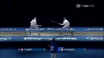Fencing Pekin 2008 Mens Epee Final bout 2